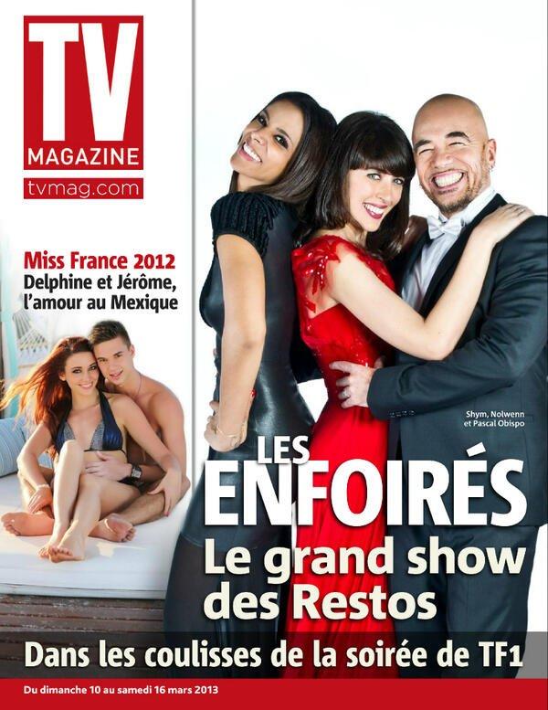 [ Les Enfoirés 2013 • Shy'm, Nolwenn et Pascal Obispo à la Une de La manche Libre & TV Magazine ]