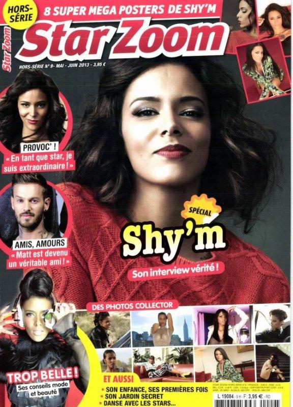 """[ Presse • Un """"Star Zoom"""" hors série consacré à Shy'm est disponible depuis le 15 mai ]"""