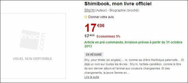 Shy'm, l'auteur de « Shimibook : mon livre officiel »