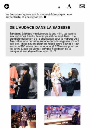 [ Interview de Shy'm dans le magazine GALA du 11 novembre 2013 ]