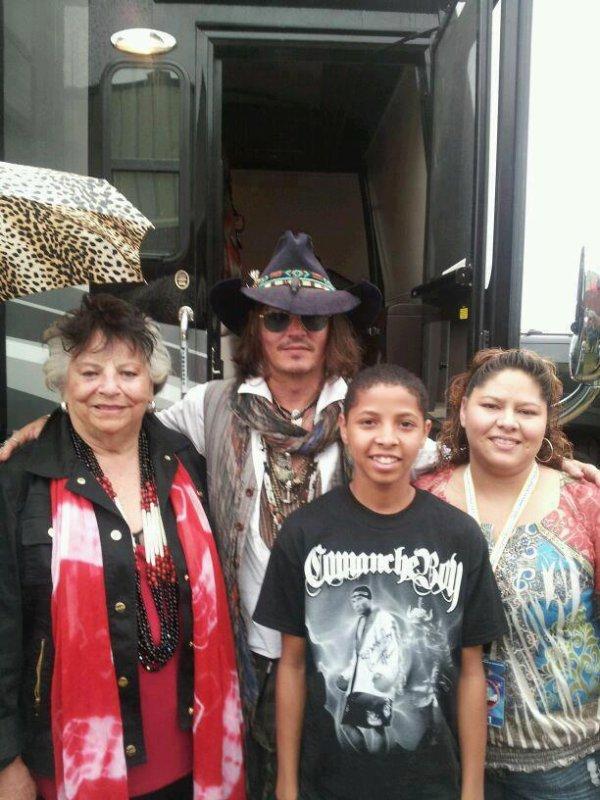 Johnny à la nation Comanche