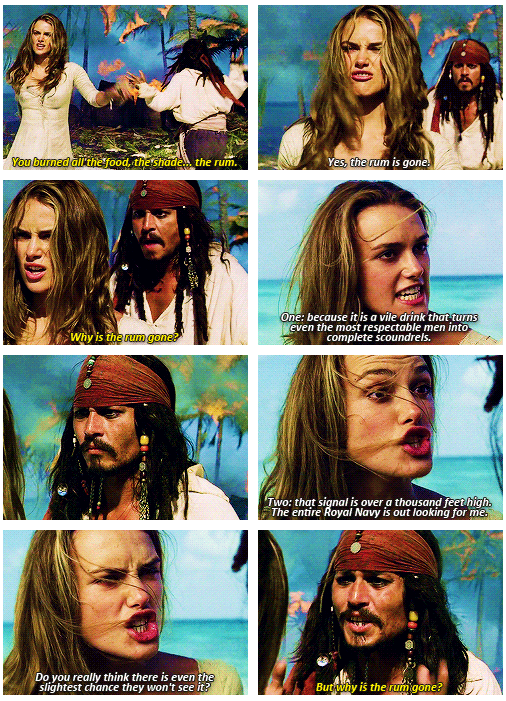 Scène POTC1 :Why is the rum gone ?