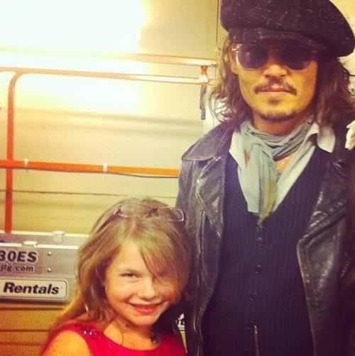 Johnny et une fan