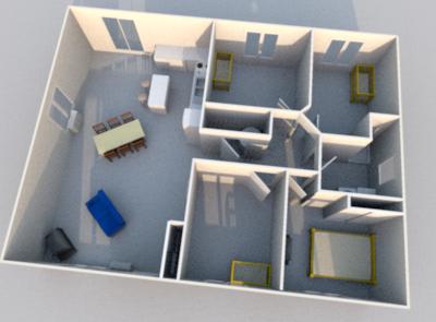plan int rieur avec sweet home 3d construction de notre. Black Bedroom Furniture Sets. Home Design Ideas