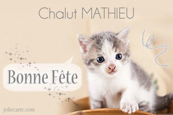 """Résultat de recherche d'images pour """"bonne fête mathieu"""""""