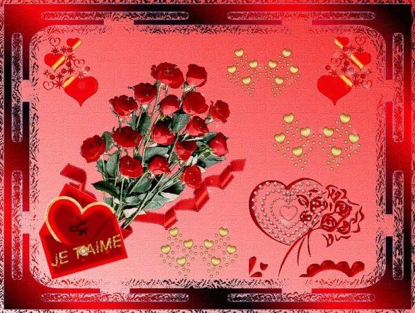 en ce 14 février , bonne saint Valentin a vous toutes et tous mes amies et amis bisous