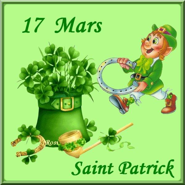 Bonne fête a tous mes ami(e)s canadiens , Irlandais , et autre bonne fête de Saint Patrick