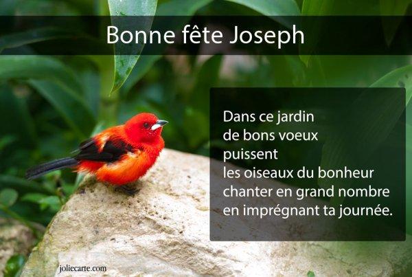 Bonne fête de Saint joseph a vous tous