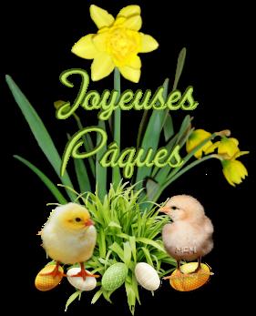Joyeuses Pâques  a vous toutes et tous mes amies et amis bisous