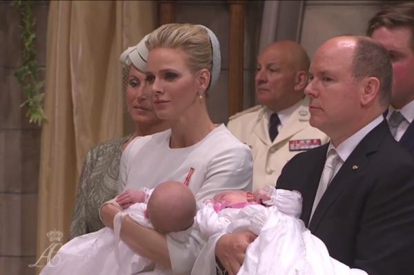 le baptéme des petits princes de Monaco