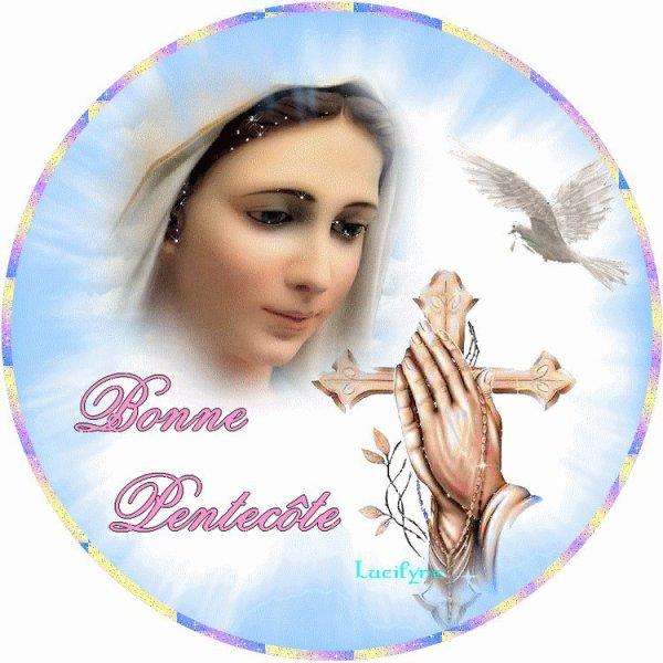 Bonne fête de Pentecôte a vous toutes et tous mes amies et amis bisous