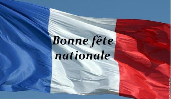 Demain 14 juillet bonne fête national a toutes et tous mes ami(e)s de France