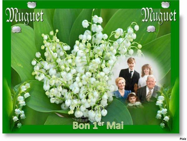 bonne fête du premier mai a vous toutes et tous mes amies et amis , c'est aussi le moi de la vierge Marie