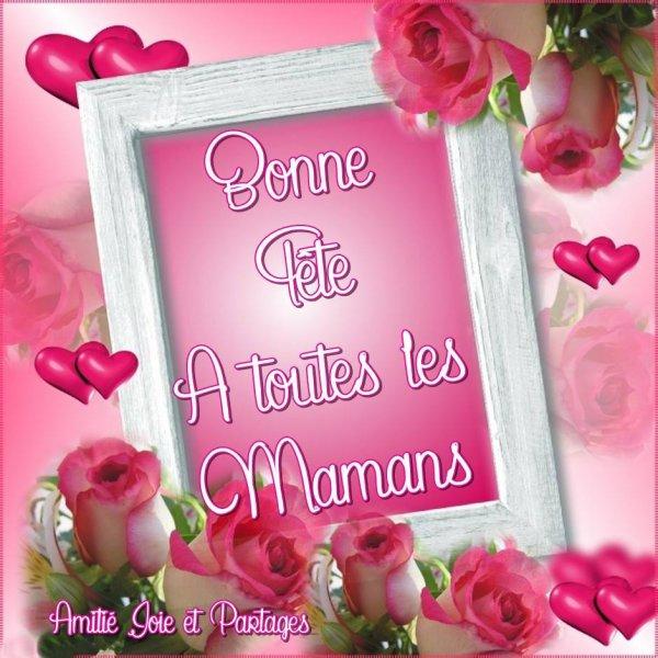 en ce dimanche 29 mai je souhaite une bonne fête a tous les mamans e France et du monde