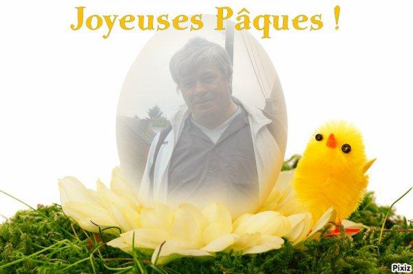 Bonne fête et joyeuse Pâques à vous toutes et tous mes amies et amis bisous
