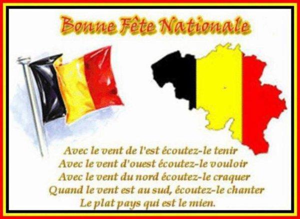 Bonne fête nationale a touts mes amis belges