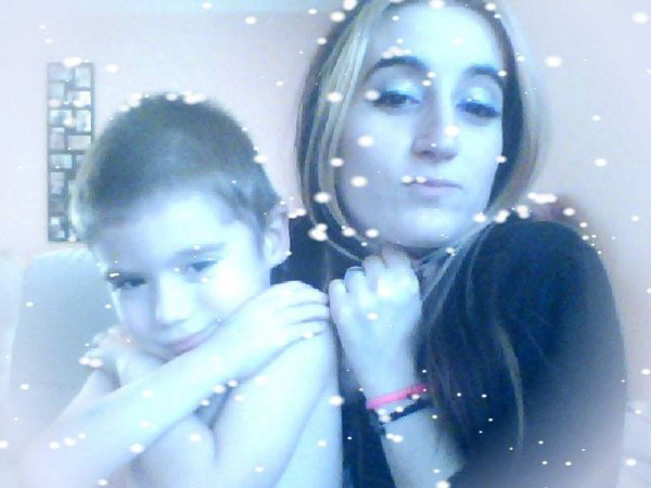 Mon fils avec sa mère