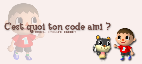 Echanges Codes amis Wii...