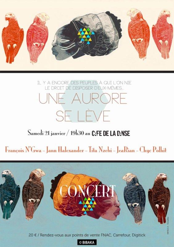 Culture et Chanson soutient le concert pour le Gabon 'Une Aurore se lève' 21/01/2017, Paris