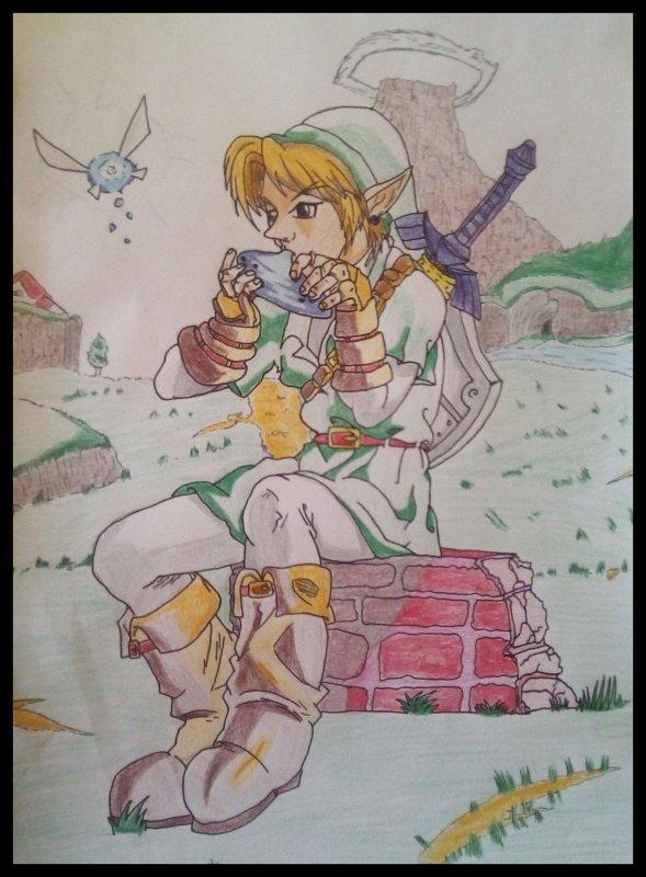 Link à l'ocarina ✍️