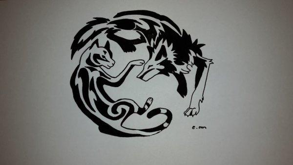 loup et chat