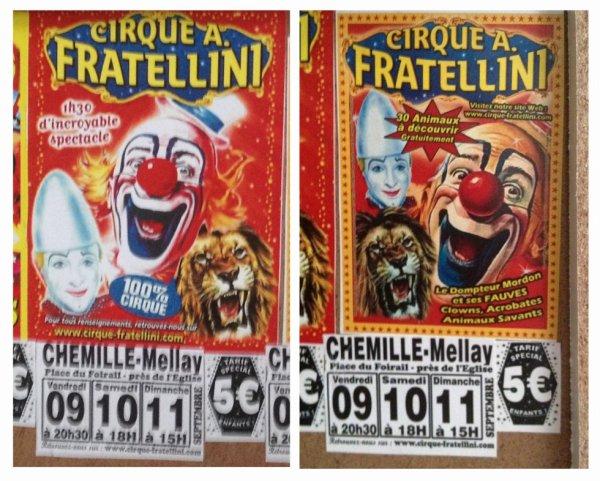 Affichage murale du Cirque Fratellini