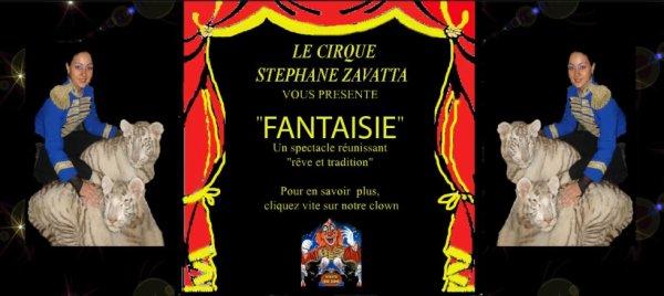 l'ancienne page du site web du cirque Stéphane Zavatta