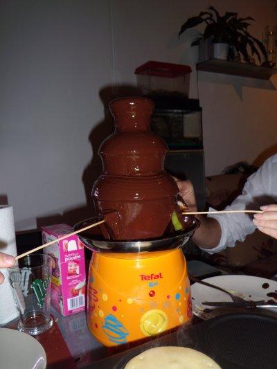 Soirée Crèpes, et fontaine de chocolat!!