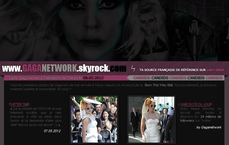 CANDIDS : Gaga arrive à Tokyo // 08.05.2012