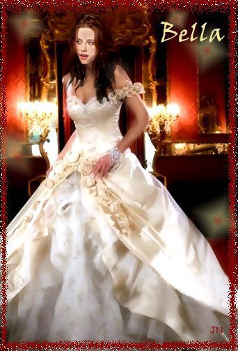 bella swan cullen en robe de mari e twilight
