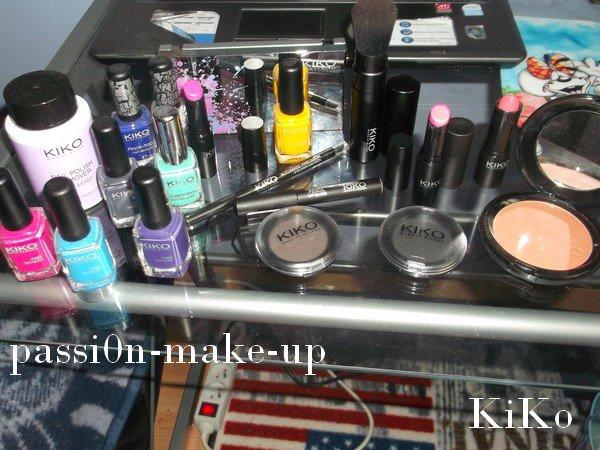 je vous montre tout mon maquillage de kiko