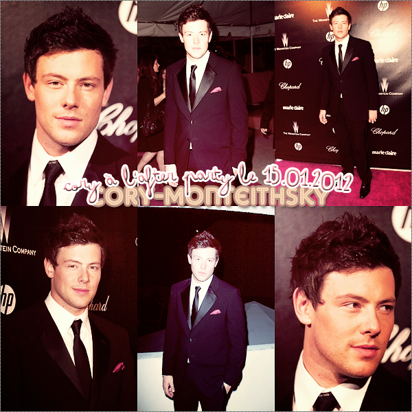 "15.01.2012 : Cory était à l'after de ""The Weinstein Company 2012 Golden Globe"""