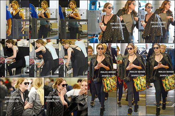29/01/16 : Miss Benson et sa bande de copines ont été aperçues par les paparazzis à l'aéroport de Miami. Finies les vacances, il est temps de rentrer. Ashley porte une tenue noire pour ne pas changer. Mais elle reste au top ! Pas vrai ?[/font=Arial]