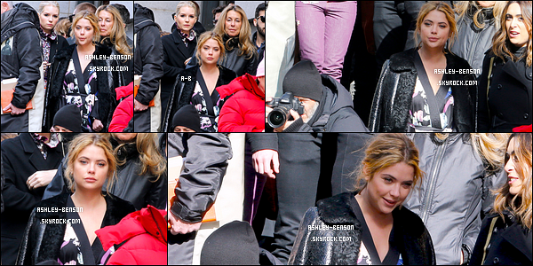 16/02/17 : Ashley a été aperçue en train de se rendre au défilé de Marc Jacobs durant la Fashion Week de NY. J'adore la robe que porte notre blondinette ; ça fait un peu chinois/japonais. Dommage qu'on n'ait pas plus de photos, n'est-ce pas ?[/font=Arial]
