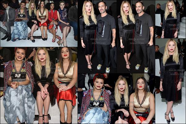 18/02/16 : Ashley Victoria Benson a été aperçue au défilé de Marc Jacob pour la Fashion Week, à New York. Comme d'habitude, beaucoup de stars étaient présentes. Ca fait plaisir de la voir en si bonne compagnie. Qu'en pensez-vous ?[/font=Arial]