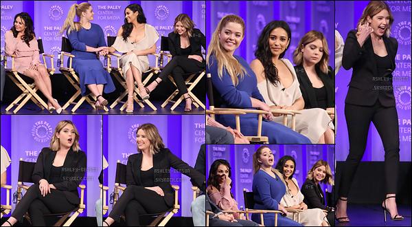 25/03/17 : Ashley et une partie du cast de « Pretty Little Liars » se sont rendus au PaleyFest, dans Los Angeles. Comme convenue, Ashley était présente. Ils étaient tous heureux de se revoir, ça fait plaisir. Pour la tenue, j'aurai aimé de la couleur...[/font=Arial]