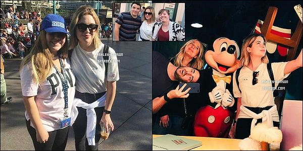 . Miss Benson et quelques amis à elle se sont rendus à Disneyland, ce lundi 03 avril. .