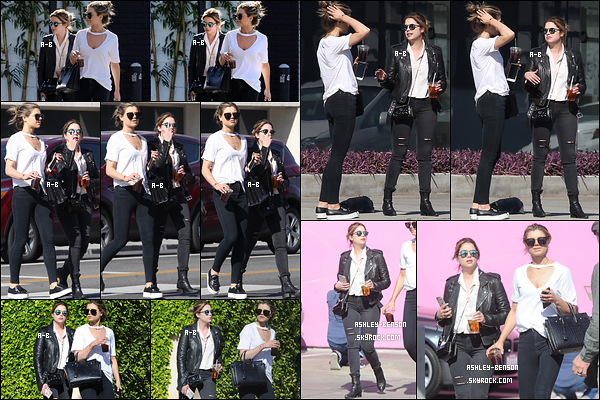 31/03/17 : Ashley et une de ses amies ont été aperçues en pleine balade dans les rues ensoleillées Los Angeles. L'actrice ne semblait pas de bonne humeur vu les fucks vis-à-vis des paparazzis. Dur dur la vie de star. Et puis, encore une tenue noir.[/font=Arial]