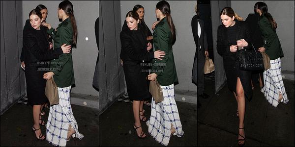 07/01/16 : Miss Benson s'est rendue à une fête organisé par W Magazine, en compagnie de Ryan, dans LA. Malheureusement, il n'y a que trois photos de disponible. Et bien sûr, Ashley ne porte que du noir. Ca devient lassant ! Vos avis ?[/font=Arial]