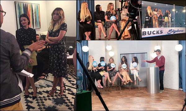12/04/17 : Comme convenu, Ashley et les filles se sont rendues sur le plateau du Ellen Show, à Los Angeles. La diffusion se fera aujourd'hui aux USA. J'espère qu'on aura rapidement de meilleures photos car là ce ne sont que les coulisses...[/font=Arial]