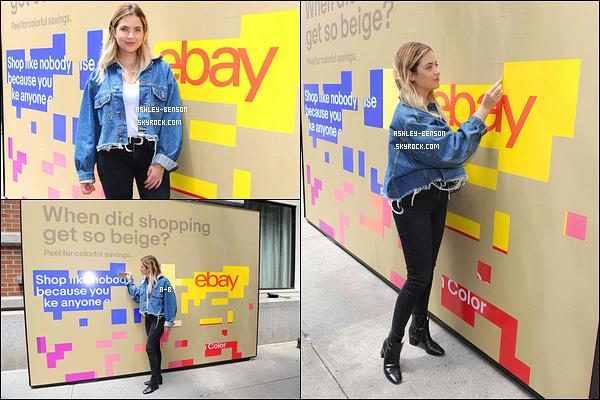 21/06/17 : Ashley a été vue fêtant la nouvelle plateforme du site eBay intitulée Fill You Cart With, à New York. Malheureusement, peu de photos sont sorties pour cet événement. Cependant, j'aime sa tenue qui colle à son style habituel. Un top ![/font=Arial]