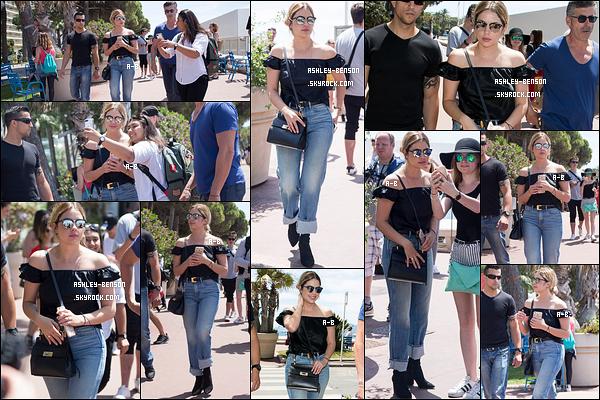 23/05/17 : Ashley a été vue par les paparazzis et quelques fans lors de sa balade sur la Croisette de Cannes. Elle retournait à son hôtel afin de se préparer pour sa montée de marches le soir. J'ai hâte de voir les photos, pas vous ? Un top sinon ![/font=Arial]