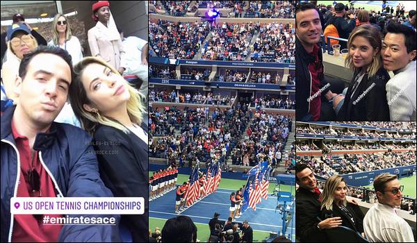 Le 09/09, Ashley et ses amis se sont rendus au US Open Tennis Championships.