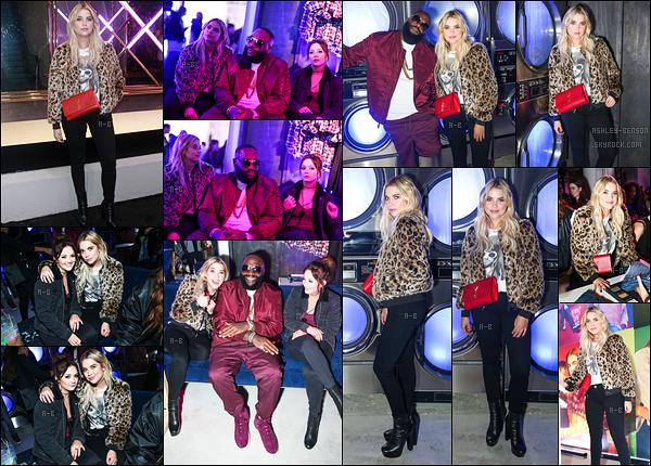 24/10/17 : La miss Benson s'est rendue au American Eagle's New Concept Store Opening, dans - New York. Durant la soirée, elle a croisé Billie Lourd et d'autres acteurs dont Jamie Foxx avec qui elle est l'égérie d'une marque de lunettes ![/font=Arial]