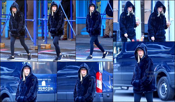 11/12/17 : Les paparazzis ont croisé notre miss Ash' Benson en pleine promenade dans les rues de New York. Par contre, elle ne semblait pas ravie de les croiser, ce qui se comprend. Sinon, j'adooore son manteau ! Fausse fourrure, j'espère...[/font=Arial]