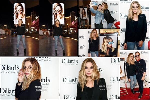 12/02/19 : Ashley s'est rendue à une soirée organisée par la marque de lunettes Privé Reveaux dans Las Vegas. L'événement s'est tenu dans un centre commercial et les fans ont eu l'opportunité de rencontrer l'actrice. Pas fan de la mise en beauté ![/font=Arial]
