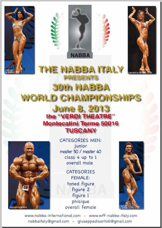 NABBA WORLD 2013 : I DID NOT MOVE !!!!