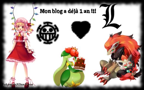 Mon blog fête sa première année !