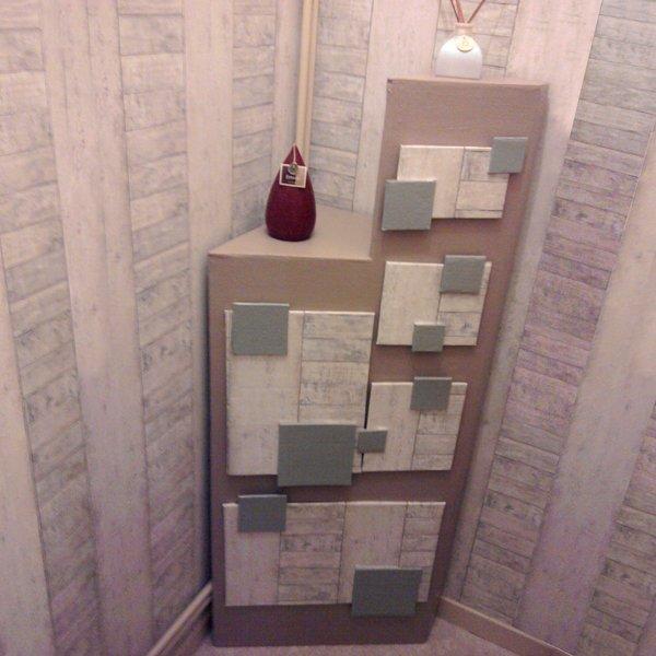 meuble de rangement en carton pour wc operlines cr ations. Black Bedroom Furniture Sets. Home Design Ideas