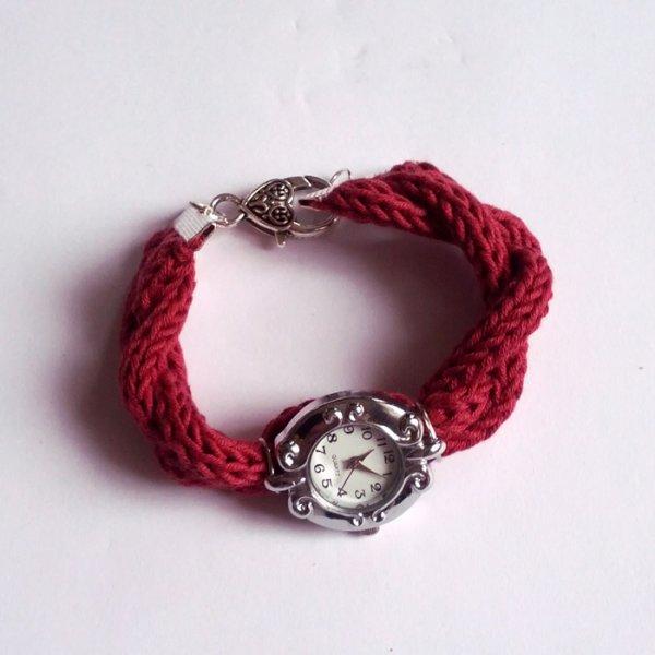 Bracelet de montre en fil Natura au tricotin